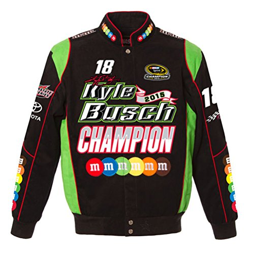 (Kyle Busch 2015 Nascar Sprint Cup Champion Jacket by JH Design (4XL))