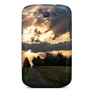 Tpu AleighasZelaya Shockproof Scratcheproof Stormy Clouds Over Sunset Above Windmill Hard Case Cover For Galaxy S3