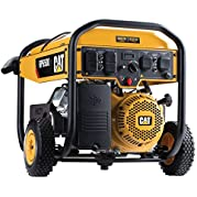 Cat RP6500E 6500 Running Watts and 8125 Starting Watts with Electric Start Gas Powered Portable Generator 490-...