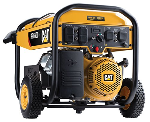 Cat RP6500E 6500 Running Watts and 8125 Starting Watts with Electric Start Gas Powered Portable Generator 490-6490