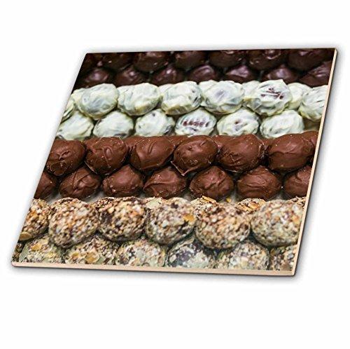 Belgian Truffles Chocolate 4 (3dRose Danita Delimont - Food - Belgium, Bruges. Truffles at a belgian chocolate shop - 4 Inch Ceramic Tile (ct_277296_1))