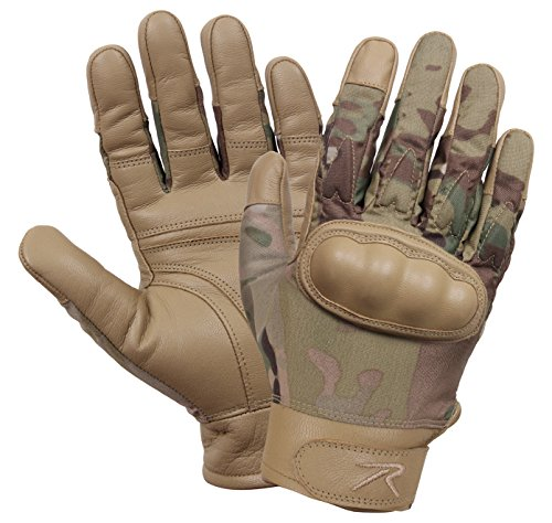 Rothco Hard Knuckle Cut and Fire Resistant Gloves, XL, Multicam