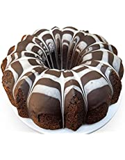 Andy Anand Marble Chocolate Bundt Cake, Made Fresh, No Preservative Amazing-Delicious-Decadent Gourmet Food Gift Box With Greeting Card Birthday Valentine, Christmas, Mothers Fathers Day (3 lbs)