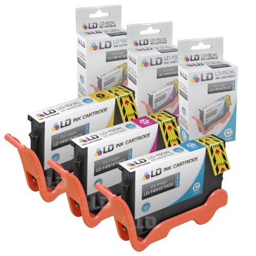 Compatible Lexmark 150XL Set of 3 HY Color Inkjet Cartridges