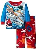 AME Sleepwear Baby Boys' Planes Microfleece 2 Piece Pajama Set, Multi, 12 Months
