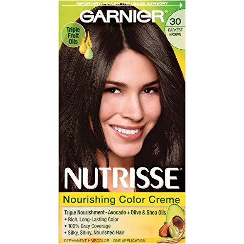 Garnier Nutrisse Nourishing Hair Color Creme, 30 Darkest ...