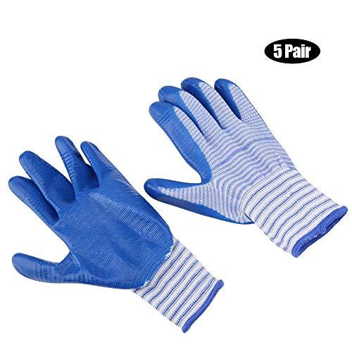 HEEPDD 5 Pcs Bite-Proof Animal Handling Gloves Short Rubber Zebra Stripe Protective Glove for Hamster Guinea Pigs Hedgehog Squirrel Mice Rats ()
