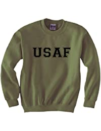 USAF Air Force Crewneck Sweatshirt in Military Green