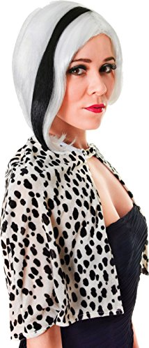 Ladies Fancy Dress Halloween Party Glamour Diva Streak Short Fake Artificial Wig