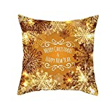Merry Christmas Throw Pillow Covers Cushion Cases Xmas Snowflake Letter Decorative Snowman Pillowcases for Couch,18