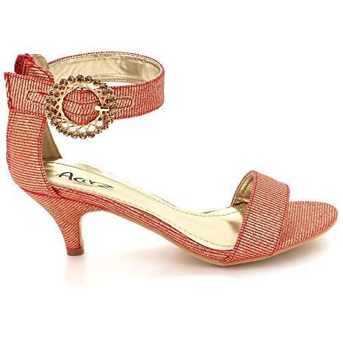 Sandales La Mariage Bordeaux De Talon Chaussures Fête Strass Des Bal Soir Boucle Dames Taille Femmes Fixation Mariée Prom Mi YtwZRq
