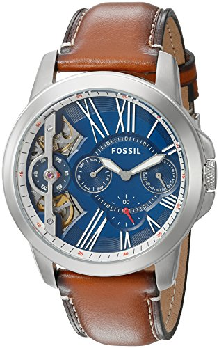 Fossil Mens ME1161 Grant Twist Three-Hand Luggage Leather Watch ()