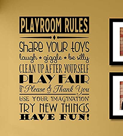 Amazon.com: Playroom Rules Share your toys Laugh Giggle Be silly ...