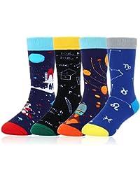 f53099752600 Kids Boy's Novelty Funny Crew Socks Crazy Space Food Cute Animal Cool Sport  Cotton Socks,