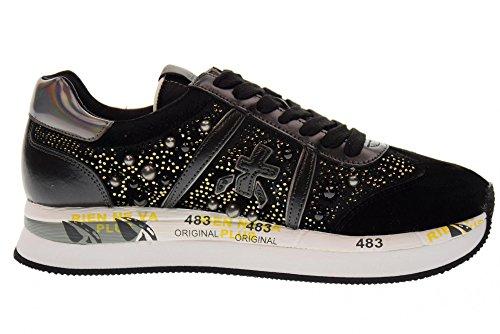 BLACK faible 1621 Black femmes Conny PREMIATA sport de chaussures xHqUqRdY