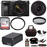 Sony Alpha a6500 Mirrorless Camera with 18-135mm f/3.5-5.6 and SEL16F28 Lens