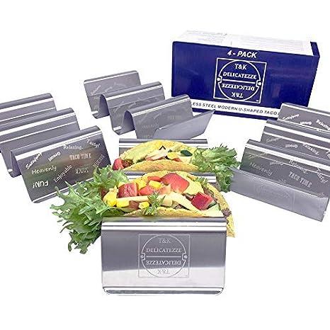 Amazon.com: Taco Holder by T&K Delicatezze – Pack de 4 con ...