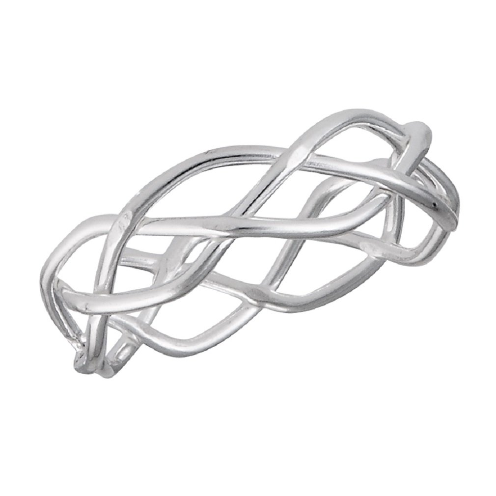 .925 Sterling Silver Infinity Open Weave Summer Toe Ring, Size 2.5
