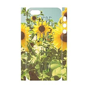 Here Comes The Sun DIY 3D Case for Iphone 5,5S, 3D Custom Here Comes The Sun Case