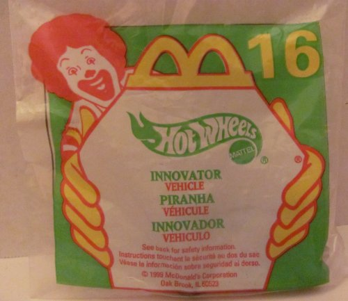 [Mattel HOT WHEELS - McDONALD'S Happy Meal TOY CAR - INNOVATOR - Bag #16 - 1999 / China (Comes in Original UNOPENED Bag) / *For Children Age 3 and Over / May Contain Small Parts* by Hot Wheels] (Hot Wheels Happy Meal)