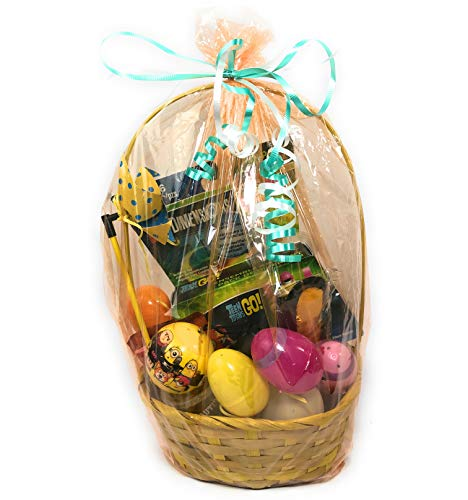 Easter Basket for Kids Pre-Filled Gift Basket with Toys, Surprise Eggs, Blind Bags & Collectibles (Yellow Teen Titan) ()