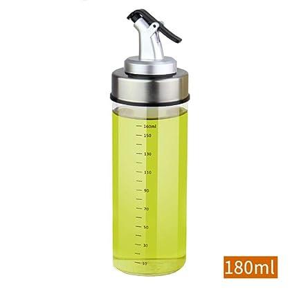 Botella de aceite sellada a prueba de fugas dispensador de aceite de oliva, botella de
