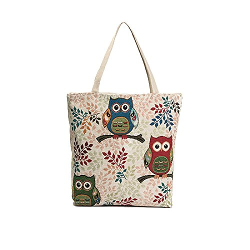 Shoulder 600c Canvas Casual 600a Cute Handbag Owl MYLL Women's Bag wRYU6nq1