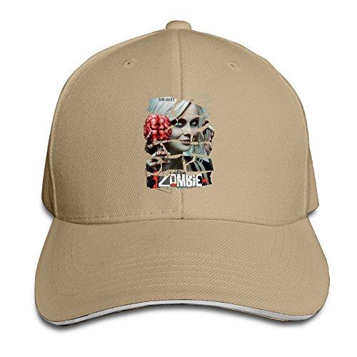 Memoy I Am Zombie Unisex Sandwich Hat Peaked Hat Natural (Brown-rahmen)