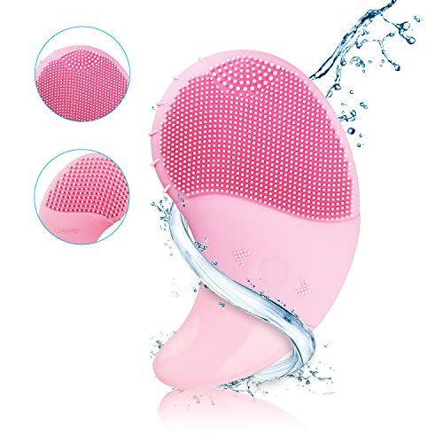 Sonic Facial Cleansing Brush Electric Silicone Face Brush and Massager Waterproof Rechargeable Face Scrubber with 3 Vibration Speeds for All Skin Types Anti-Aging, Acid Peels Reduce Acne
