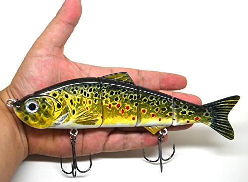 "8"" Multi Jointed Swimbait Fishing Lures Bait Baits Life-like Lure Minnow Bass Pike Musky NEW (D)"