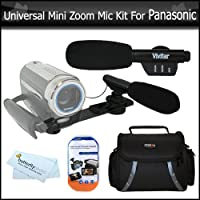 Universal Super Sound Mini Zoom Camcorder Directional Video Shotgun Microphone w/Mount + Deluxe Case + More For Panasonic HDC-HS900K, HDC-SD90K, HDC-TM90K, HDC-TM900K, HC-X900M, HC-X900, HC-V700, HC-V700M, HC-X920, HC-V720 Camcorder