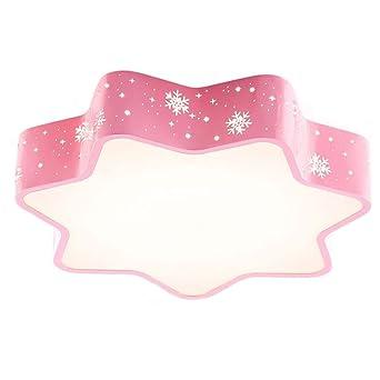 Kreative Schneeflocke -Mädchen-Raum-Decken-Lampen-Rosa-LED ...