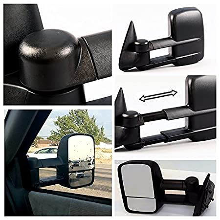 ECCPP Towing Manual Telescoping Side View Door Mirrors Left /& Right Pair Set for 88-98 Chevy//GMC C//K1500 88-00 C//K2500 3500 92-99 Suburban C//K1500 2500 Tahoe Yukon Truck//2000 Chevy Tahoe GMC Yukon V8 5.7L ECCPP050337