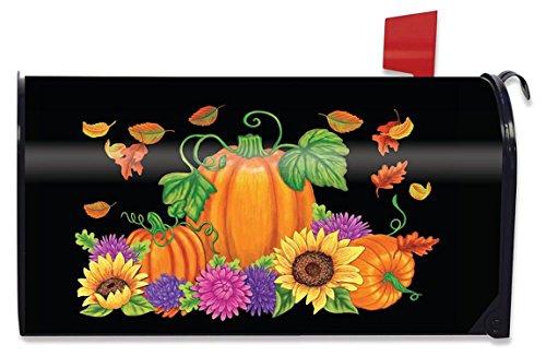 Briarwood Lane Bountiful Harvest Fall Mailbox Cover Pumpkin Sunflowers Standard