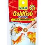 Tetra Goldfish Fish Food FunTips, Adhesive Fish Food Discs for Healthy Feeding Fun of Aquarium Goldfish, 20 Tablets