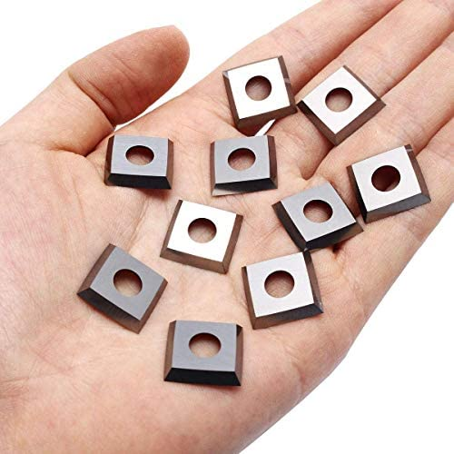 YYONGAO Lathe Tool 10Pcs 15mm 4 Edge Square Carbide Insert Cutter for Wood Working Lateh Tool Boring Inserts