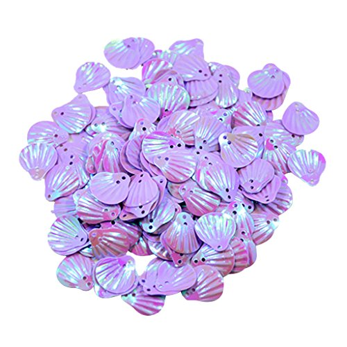 - MonkeyJack 15mm Shiny Shell Loose Sequins Sewing Paillette DIY Jewelry Craft Garment Decoration - Purple, 15mm x 15mm