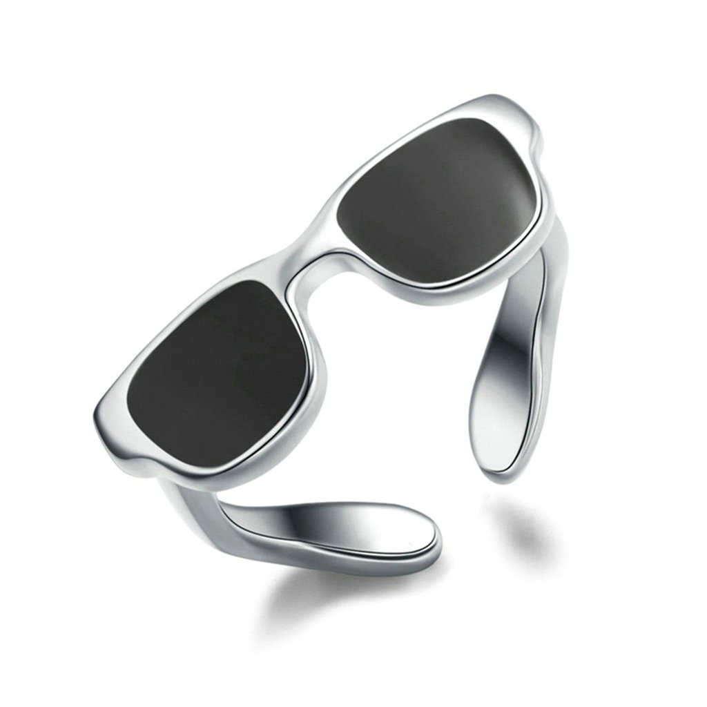 Aooaz Womens Rings Silver Plated Rings Wedding Band Promise Ring Adjustable Ring Sunglass Ring Punk Biker