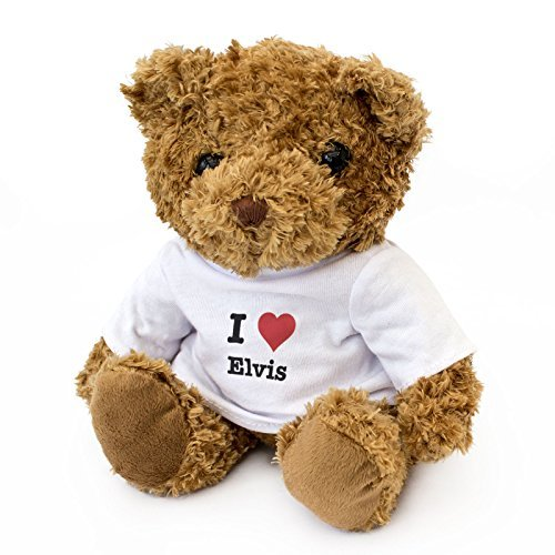 New - I Love Elvis - Teddy Bear - Cute and Cuddly - Gift Present Birthday Valentine