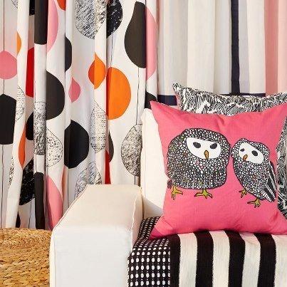 Amazon.com: IKEA GULORT Rosa Búho Cojín Throw almohada cover ...