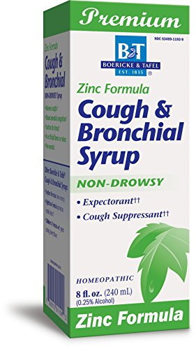 Zinc Syrup (Boericke and Tafel Cough and Bronchial Syrup with Zinc, 8 Fluid Ounce)