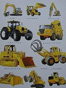 JCB Cargadora Bulldozer Wheel Loader Sraper Tractor Tarjeta de felicitación