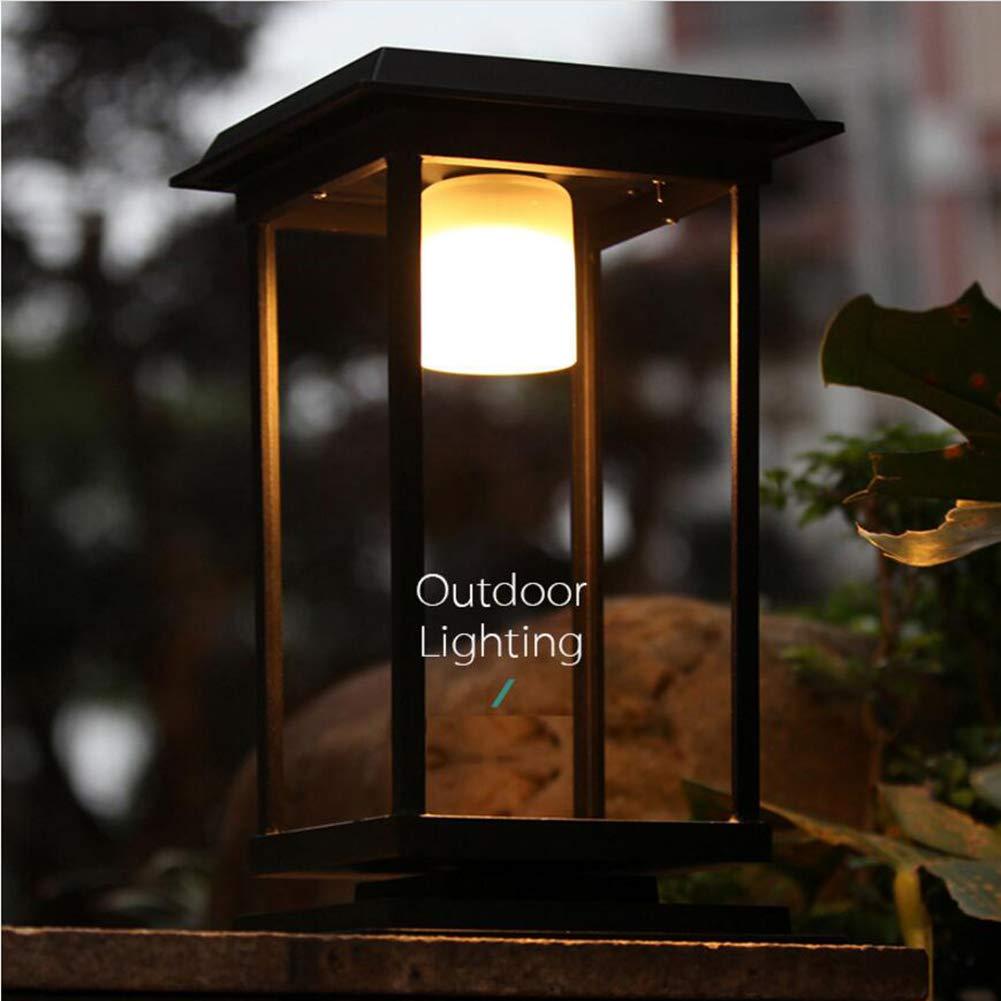 Suguoguo Solar Wall Light, 5W Outdoor Door Column Column Lampe Wall Home Outdoor Wasserdichte Säule Lampe Einfache Aluminum Gartenlampe
