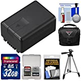 Panasonic VW-VBT190 Rechargeable Battery with 32GB Card + Case + Tripod + Kit for V110, V210, V510, V520, V550, V710 & V720 Camcorders