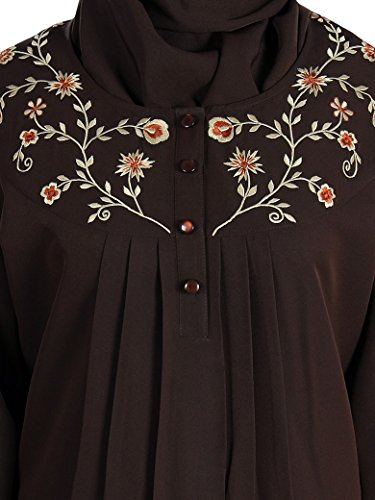 MyBatua moslemische Frauen Anlass tragen & täglich tragen braun abaya burqa maxi AY-211