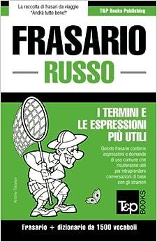 Frasario Italiano-Russo e dizionario ridotto da 1500 vocaboli