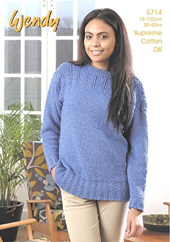 Wendy Ladies Sweater Supreme Knitting Pattern 5714 DK by Wendy by Wendy