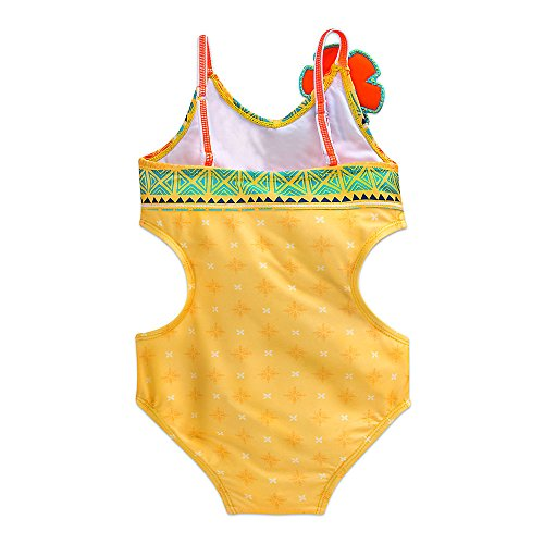 3f447e46ca Disney Moana Swimsuit for Girls Size 5 6 Yellow - Import It All