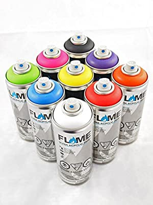 FLAME Diamond Packs - MAIN COLORS (9 Cans)
