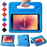 BMOUO Kids Case for Samsung Galaxy Tab A 8.0 2017 (SM-T385 /T380) - EVA Shockproof Light Weight Handle Stand Kids Case Cover for Samsung Galaxy Tab A 8-inch 2017 Release - Blue